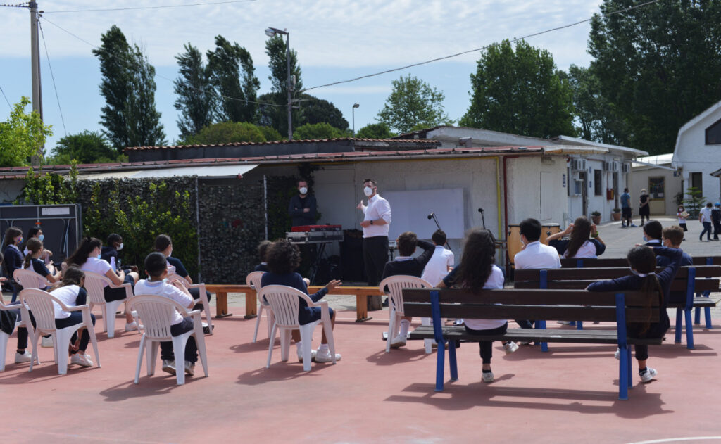 Dave Morecroft presenting a Match&Fuse workshop in Italy.